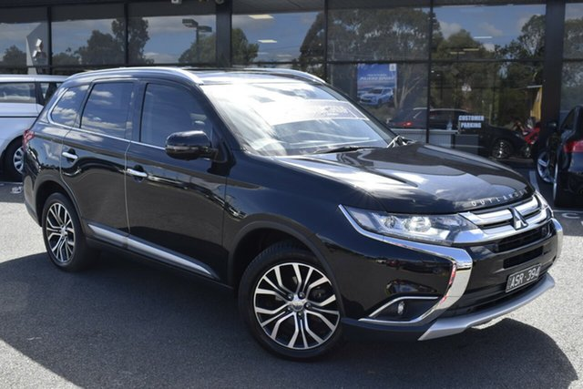 Used Mitsubishi Outlander ZL MY19 Exceed AWD Wantirna South, 2018 Mitsubishi Outlander ZL MY19 Exceed AWD Black 6 Speed Sports Automatic Wagon