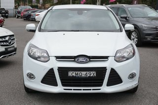 2013 Ford Focus LW MkII Sport PwrShift White 6 Speed Sports Automatic Dual Clutch Hatchback.