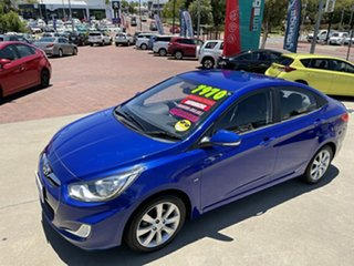 2011 Hyundai Accent RB Elite Blue 4 Speed Automatic Hatchback