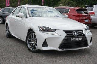 2017 Lexus IS ASE30R IS200t Luxury White 8 Speed Sports Automatic Sedan.