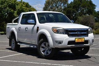 2010 Ford Ranger PK XLT Crew Cab White 5 Speed Manual Double Cab Pick Up.