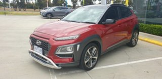 2018 Hyundai Kona OS.2 MY19 Highlander 2WD Pulse Red/black Roof 6 Speed Sports Automatic Wagon