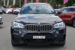 2015 BMW X6 F16 xDrive50i Coupe Steptronic Black 8 Speed Sports Automatic Wagon.