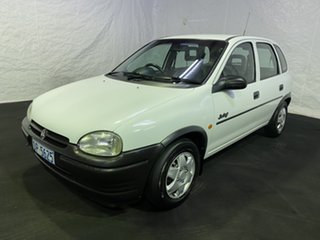 1995 Holden Barina SB Swing White 5 Speed Manual Hatchback.