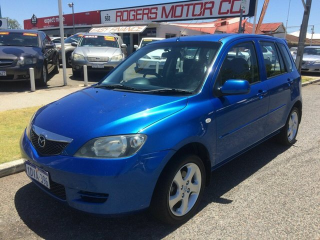 Used Mazda 2 DY Maxx Victoria Park, 2004 Mazda 2 DY Maxx Blue 5 Speed Manual Hatchback