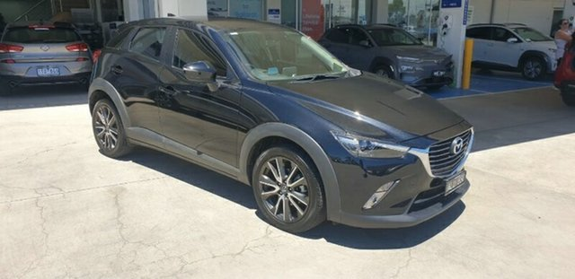 Used Mazda CX-3 DK2W7A sTouring SKYACTIV-Drive Ravenhall, 2017 Mazda CX-3 DK2W7A sTouring SKYACTIV-Drive Black 6 Speed Sports Automatic Wagon