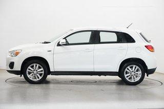 2014 Mitsubishi ASX XB MY15 LS 2WD White 5 Speed Manual Wagon.