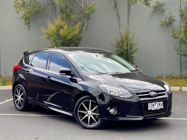 Used Ford Focus LW MkII Sport PwrShift Templestowe, 2014 Ford Focus LW MkII Sport PwrShift Black 6 Speed Sports Automatic Dual Clutch Hatchback