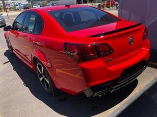 2016 Holden Commodore VF II MY16 SV6 Black Red 6 Speed Sports Automatic Sedan.