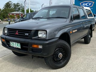 1998 Mitsubishi Triton MK GLX Double Cab Grey 5 Speed Manual Utility.