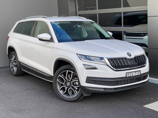 2019 Skoda Kodiaq NS MY19 132TSI DSG White 7 Speed Sports Automatic Dual Clutch Wagon