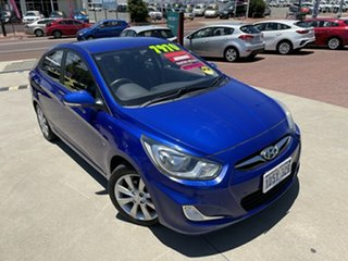 2011 Hyundai Accent RB Elite Blue 4 Speed Automatic Hatchback.