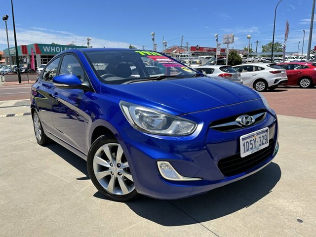 Used Hyundai Accent RB Elite Victoria Park, 2011 Hyundai Accent RB Elite Blue 4 Speed Automatic Hatchback
