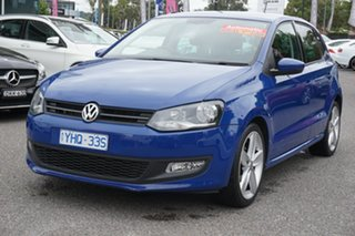 2011 Volkswagen Polo 6R MY11 77TSI DSG Comfortline Ocean Blue 7 Speed Sports Automatic Dual Clutch