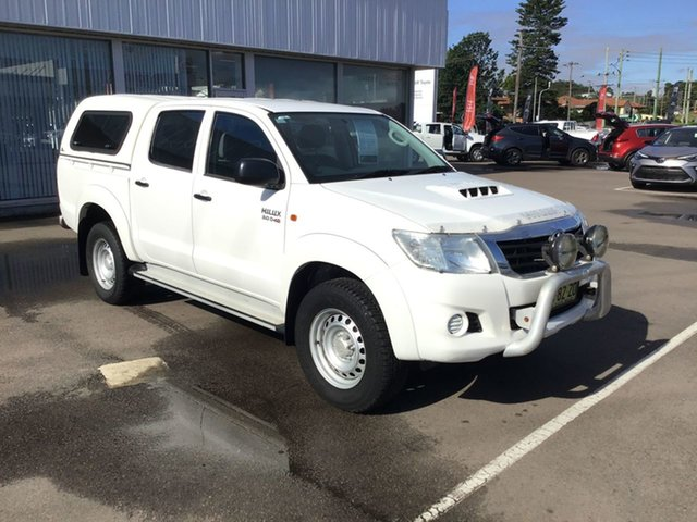 Pre-Owned Toyota Hilux KUN26R MY12 SR Double Cab Cardiff, 2013 Toyota Hilux KUN26R MY12 SR Double Cab White 4 Speed Automatic Utility