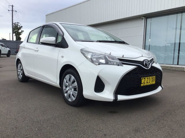 Used Toyota Yaris NCP130R Ascent Cardiff, 2015 Toyota Yaris NCP130R Ascent White 5 Speed Manual Hatchback