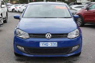 2011 Volkswagen Polo 6R MY11 77TSI DSG Comfortline Ocean Blue 7 Speed Sports Automatic Dual Clutch.
