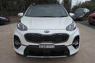 2019 Kia Sportage QL MY20 GT-Line AWD White Pearl 8 Speed Sports Automatic Wagon.