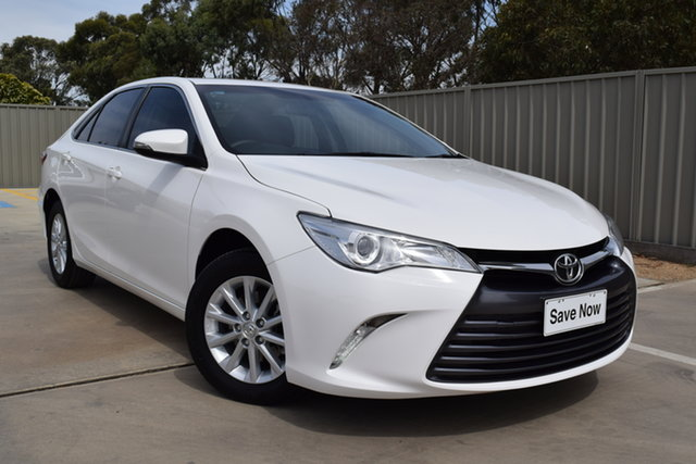 Used Toyota Camry ASV50R Altise Echuca, 2016 Toyota Camry ASV50R Altise Diamond White 6 Speed Sports Automatic Sedan