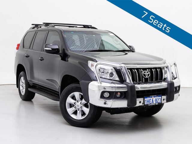 Used Toyota Landcruiser Prado KDJ150R 11 Upgrade Altitude (4x4), 2013 Toyota Landcruiser Prado KDJ150R 11 Upgrade Altitude (4x4) Black 5 Speed Sequential Auto Wagon