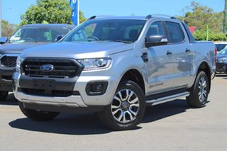 2019 Ford Ranger PX MkIII 2020.25MY Wildtrak Silver 10 Speed Sports Automatic Double Cab Pick Up.