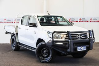 2017 Toyota Hilux GUN126R SR (4x4) Glacier White 6 Speed Automatic Dual Cab Chassis.