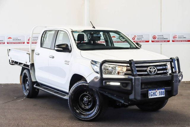 Pre-Owned Toyota Hilux GUN126R SR (4x4) Myaree, 2017 Toyota Hilux GUN126R SR (4x4) Glacier White 6 Speed Automatic Dual Cab Chassis
