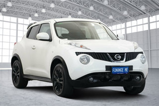 2014 Nissan Juke F15 MY14 Ti-S AWD White 1 Speed Constant Variable Hatchback.