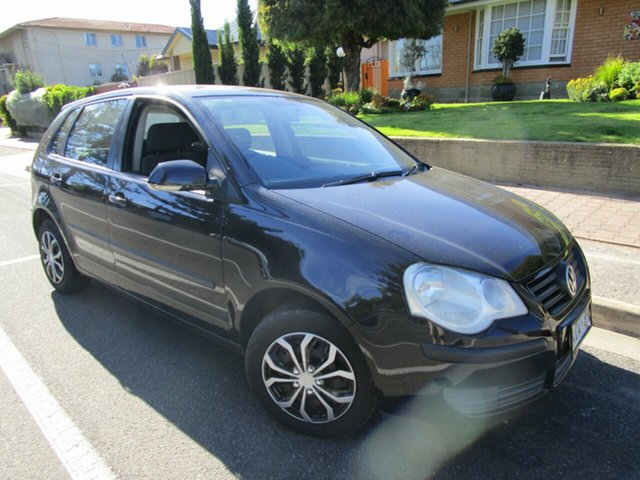 Used Volkswagen Polo 9N Match Glenelg, 2005 Volkswagen Polo 9N Match Black 5 Speed Manual Hatchback