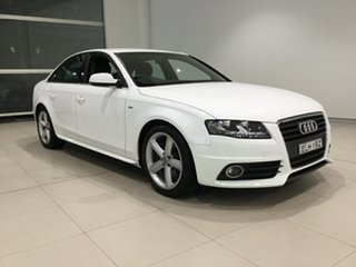 2011 Audi A4 B8 8K MY11 Multitronic White 8 Speed Constant Variable Sedan.