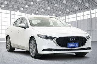 2019 Mazda 3 BP2S7A G20 SKYACTIV-Drive Evolve White 6 Speed Sports Automatic Sedan.