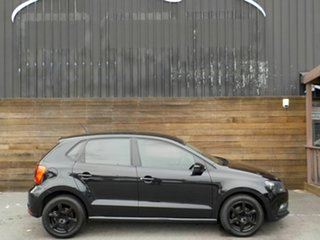 2015 Volkswagen Polo 6R MY15 66TSI Trendline Black 5 Speed Manual Hatchback.