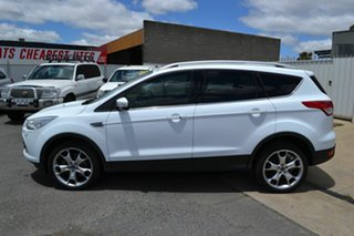 2013 Ford Kuga TF Titanium (AWD) White 6 Speed Automatic Wagon.