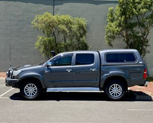 2013 Toyota Hilux KUN26R MY12 SR5 Double Cab Grey 5 Speed Manual Utility.