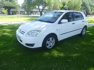 2005 Toyota Corolla ZZE122R Ascent White Manual Hatchback