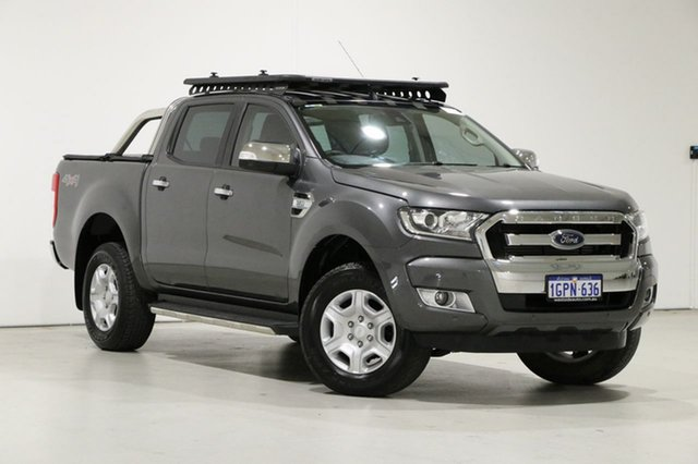 Used Ford Ranger PX MkII MY18 XLT 3.2 (4x4) Bentley, 2018 Ford Ranger PX MkII MY18 XLT 3.2 (4x4) Grey 6 Speed Automatic Double Cab Pick Up