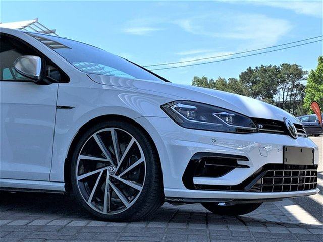Demo Volkswagen Golf 7.5 MY20 R DSG 4MOTION Botany, 2020 Volkswagen Golf 7.5 MY20 R DSG 4MOTION White 7 Speed Sports Automatic Dual Clutch Hatchback