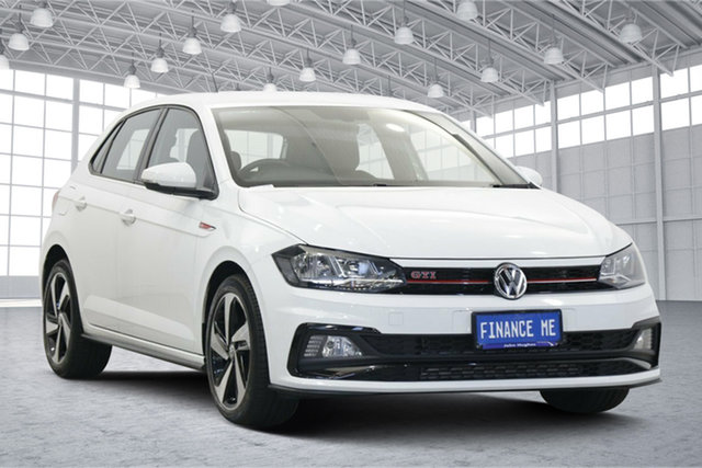 Used Volkswagen Polo AW MY19 GTI DSG Victoria Park, 2019 Volkswagen Polo AW MY19 GTI DSG White 6 Speed Sports Automatic Dual Clutch Hatchback