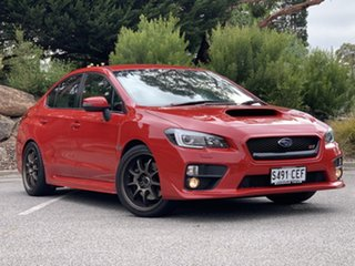 2014 Subaru WRX V1 MY15 STI AWD Red 6 Speed Manual Sedan.