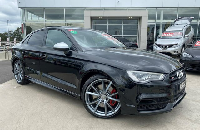 Used Audi S3 8V MY16 S Tronic Quattro Liverpool, 2016 Audi S3 8V MY16 S Tronic Quattro Black 6 Speed Sports Automatic Dual Clutch Sedan