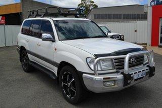 2004 Toyota Landcruiser UZJ100R Sahara (4x4) White 5 Speed Automatic Wagon