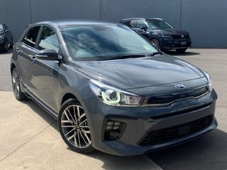 2020 Kia Rio YB MY21 GT-Line DCT Perennial Grey 7 Speed Sports Automatic Dual Clutch Hatchback.
