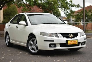 2003 Honda Accord Euro CL Luxury Pearl White 5 Speed Automatic Sedan.
