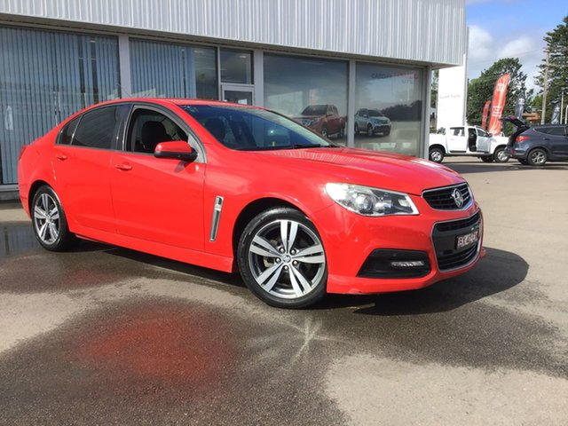 Pre-Owned Holden Commodore VF MY14 SV6 Cardiff, 2014 Holden Commodore VF MY14 SV6 Red 6 Speed Sports Automatic Sedan