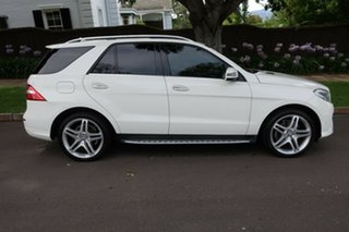 2013 Mercedes-Benz M-Class W166 ML350 BlueTEC 7G-Tronic + White 7 Speed Sports Automatic Wagon.
