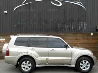 2005 Mitsubishi Pajero NP MY06 Exceed Beige 5 Speed Sports Automatic Wagon.