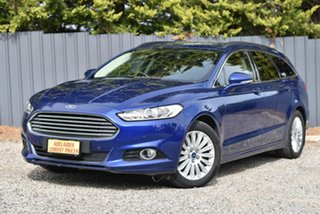 2015 Ford Mondeo MD Trend Blue 6 Speed Sports Automatic Dual Clutch Wagon.