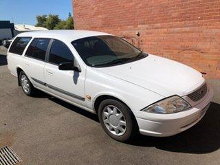 2001 Ford Falcon AU II Forte Winter White 4 Speed Automatic Wagon
