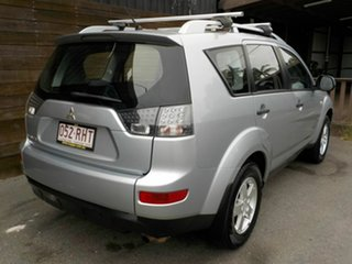 2009 Mitsubishi Outlander ZG MY09 LS Silver 6 Speed Constant Variable Wagon.