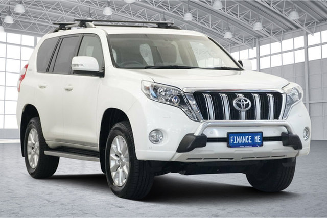 Used Toyota Landcruiser Prado KDJ150R MY14 VX Victoria Park, 2014 Toyota Landcruiser Prado KDJ150R MY14 VX White 5 Speed Sports Automatic Wagon